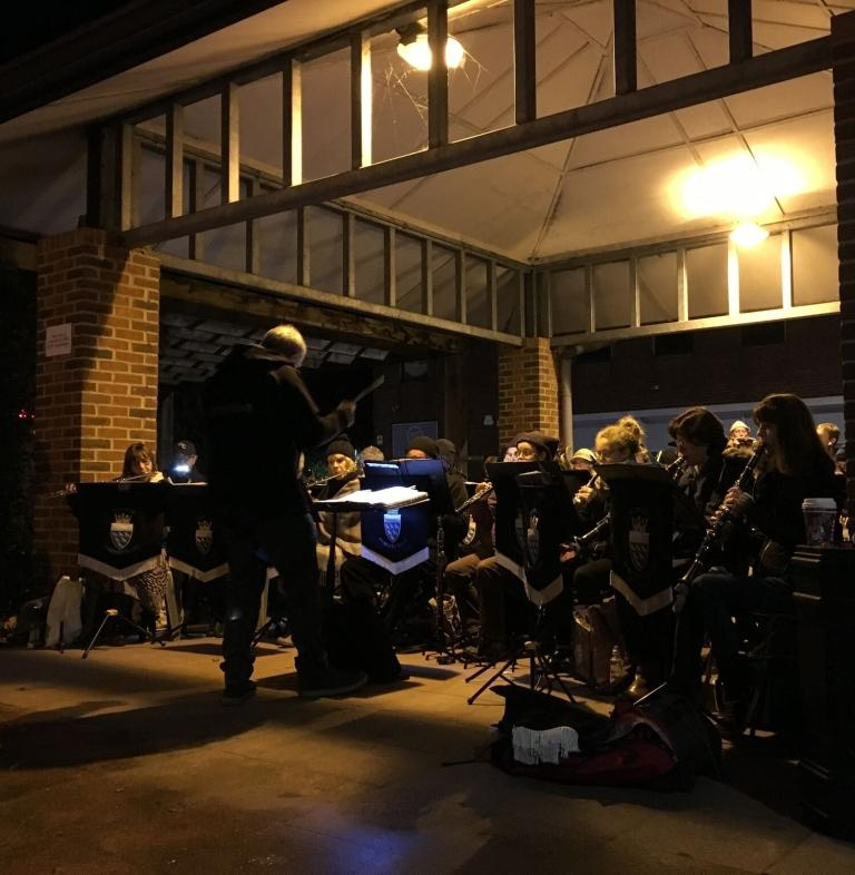 Slinfold Concert Band playing in Stocklund Square