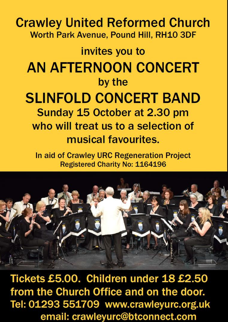 Poster for Concert at Crawley URC