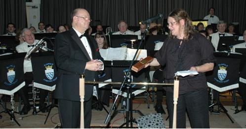 Malcolm Gay marks 20 years as MD of Slinfold Concert Band