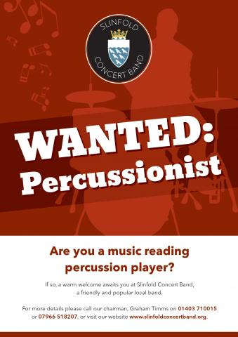 Percussionist wanted poster